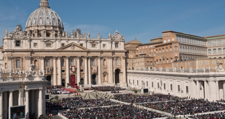 A papal audience at the Vatican