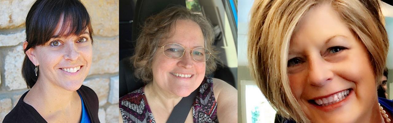 Photos of Stephanie Krehbiel, Margaret Hillman, and Laurie Delgatto-Whitten
