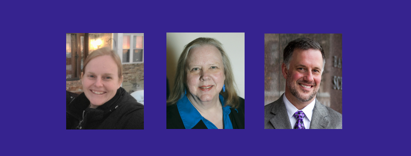 Photos of Esther Harber, Paula Kaempffer, and David Pooler