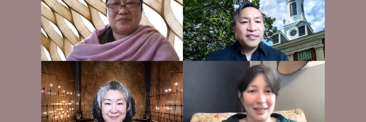 Four panelists from the virtual panel discussion at Fordham about AAPI Catholics